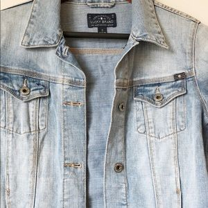 Lucky Brand Jackets & Coats - Lucky Brand Dixie Embroidered Jean Jacket Small
